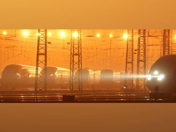 Trains are seen at a maintenance depot in Beijing, China. (Image credit: Reuters)