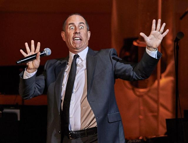 <p>No. 1: Jerry Seinfeld<br>The veteran comic earned <strong>$69 million</strong> over the last 12 months, and he has variety of sources to thank — sold out theatres, a blockbuster Netflix deal for a stand-up special and two more seasons of <em>Comedians in Cars Getting Coffee</em> and, Forbes reports, millions from Hulu, which owns the streaming rights to <em>Seinfeld</em>. (Canadian Press) </p>