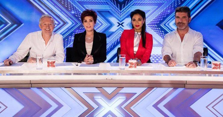 Dermot joined X Factor judges Louis Walsh, Sharon Osbourne, Nicole Scherzinger and Simon Cowell (Copyright: ITV)