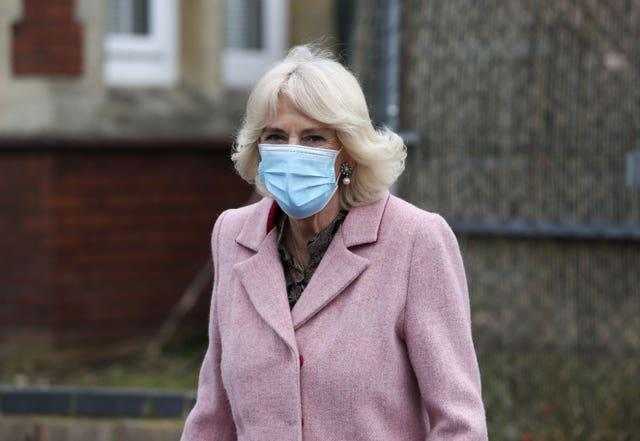 Duchess of Cornwall visit to vaccination centre