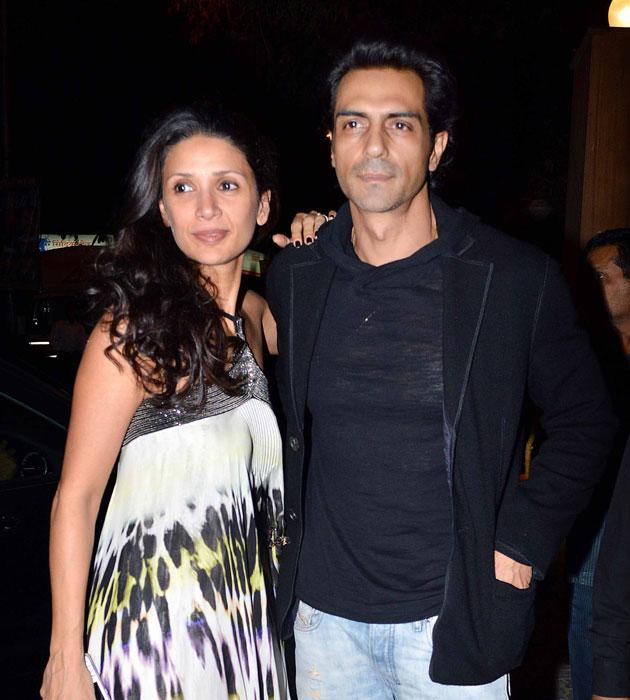 Mehr and Arjun Rampal arrive