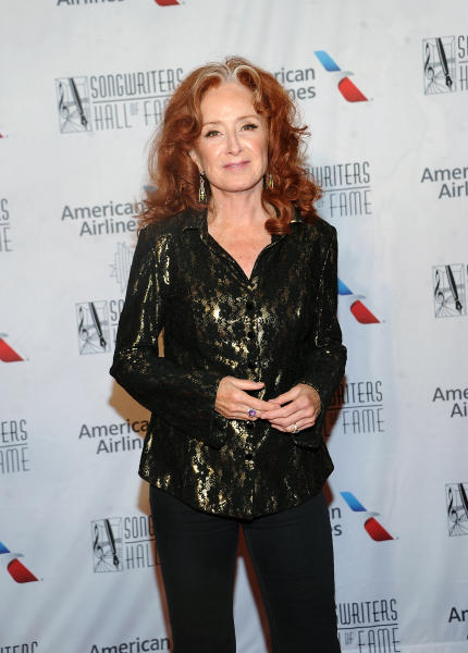 Bonnie Raitt arrives for the 50th annual Songwriters Hall of Fame induction and awards ceremony Thursday, June 13, 2019, in New York. (Photo by Brad Barket/Invision/AP)