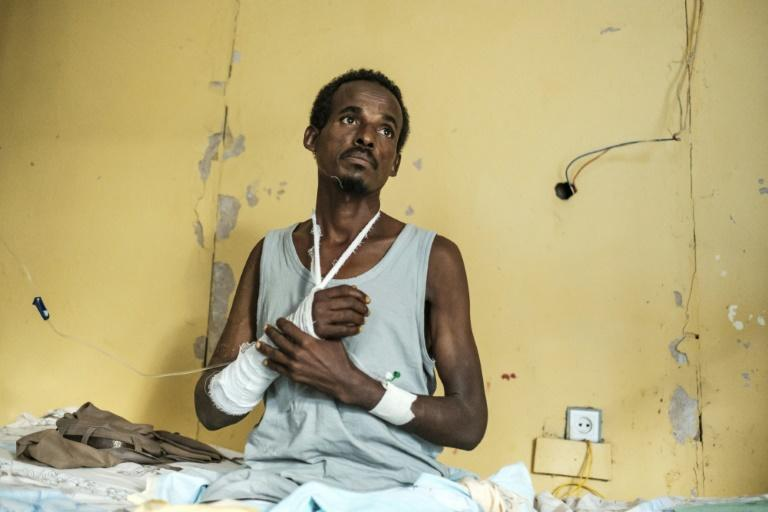 A survivor of the massacre in the town of Mai-Kadra, the worst-known attack on civilians during Ethiopia's ongoing internal conflict pitting federal forces against leaders of Tigray's ruling party