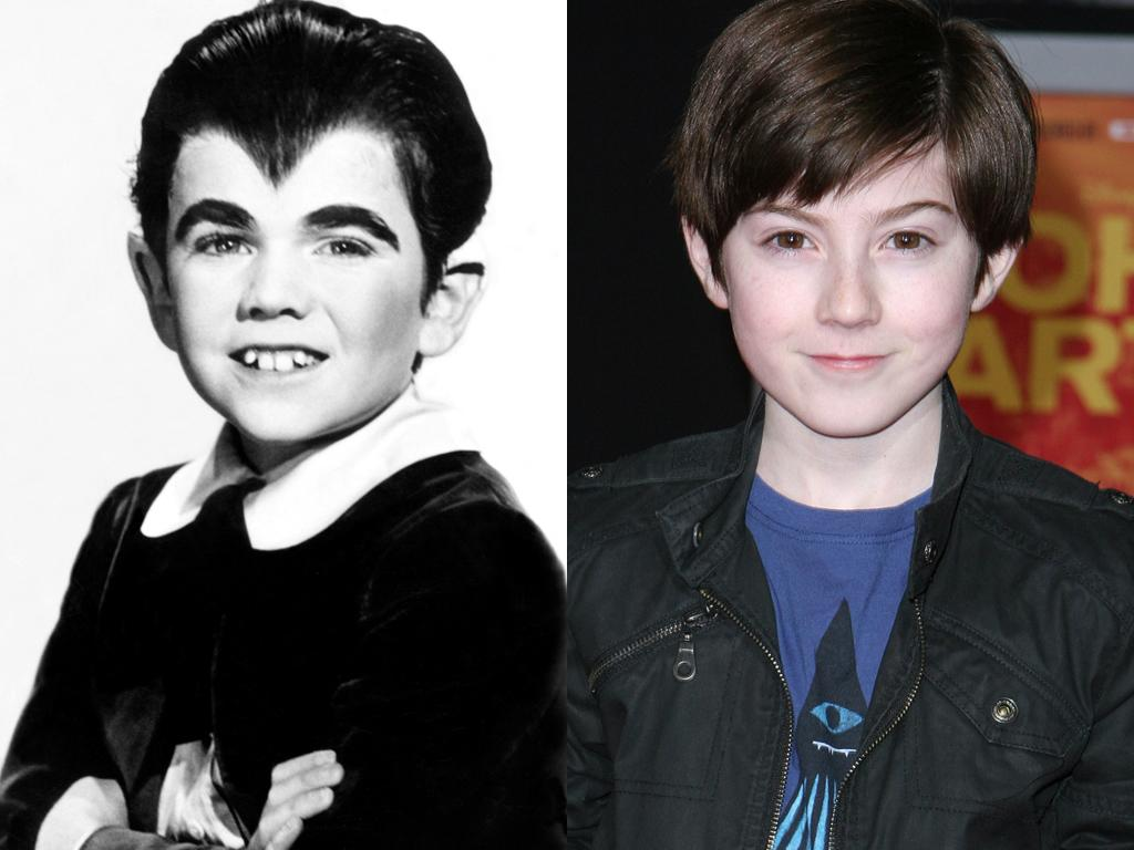 "<b>Eddie Munster</b><br><br><b>Original Cast: </b>Butch Patrick<br><br><b>New Cast: </b>Mason Cook<br><br>Herman and Lily's werewolf son, Eddie (played memorably by Butch Patrick in the original ""Munsters""), will fight his animal instincts when ""Spy Kids in 4D"" alum Mason Cook inhabits the role. Reportedly, the new-look Eddie will reject his werewolf heritage and (gasp!) refuse to eat meat. We just want to see Mason in costume to find out if NBC decides to keep Eddie's classic widow's peak."