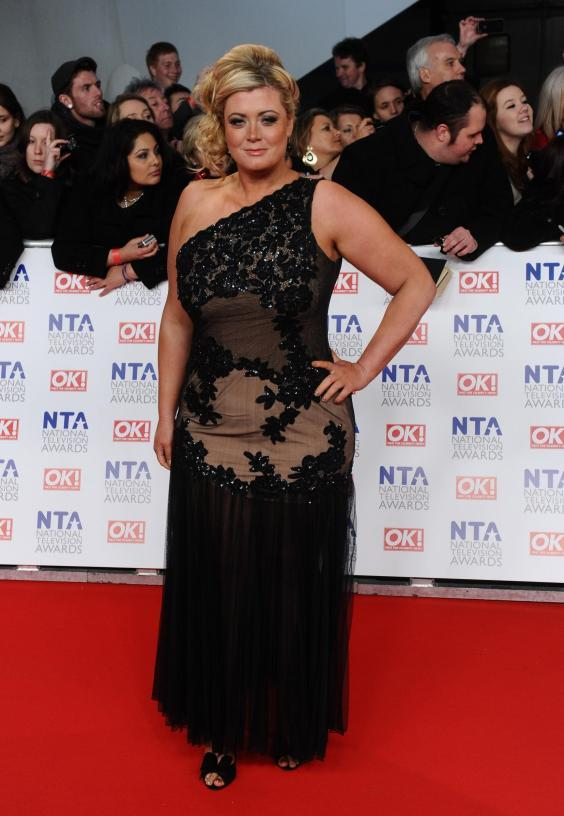 Gemma Collins attended the National Television Awards after experiencing a miscarriage (Getty)