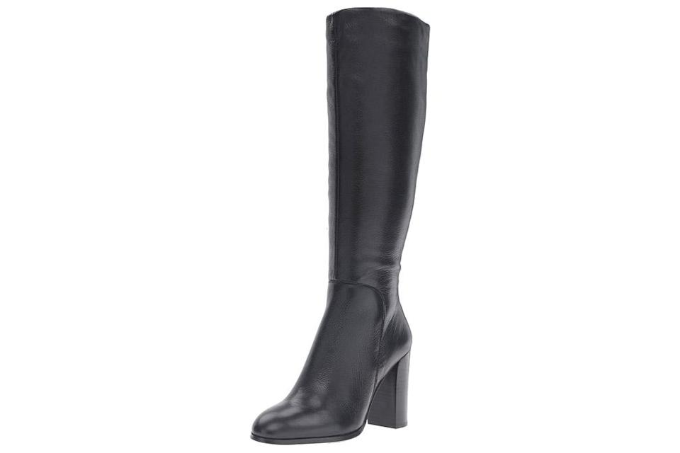 black boots, leather, knee high, over the knee, kenneth cole
