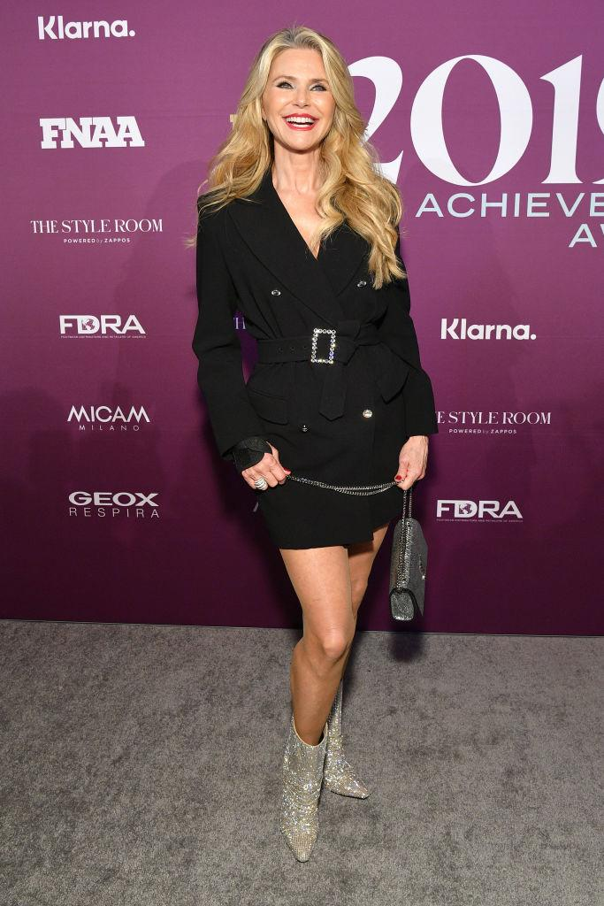 Christie Brinkley works the red carpet in December, 2019. (Getty Images)