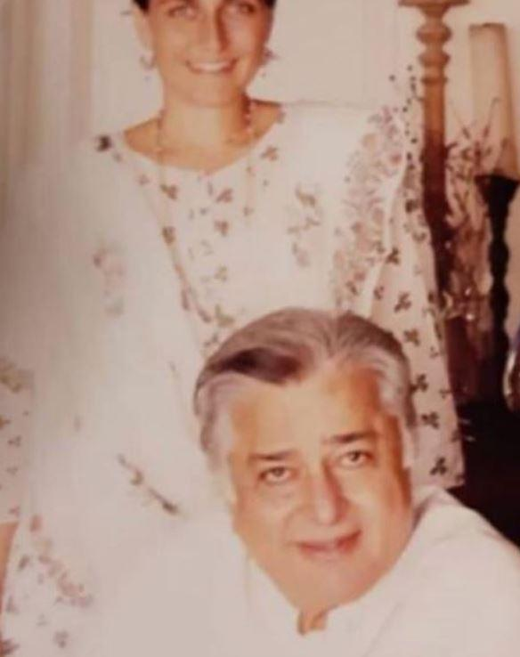 Shashi Kapoor with his daughter