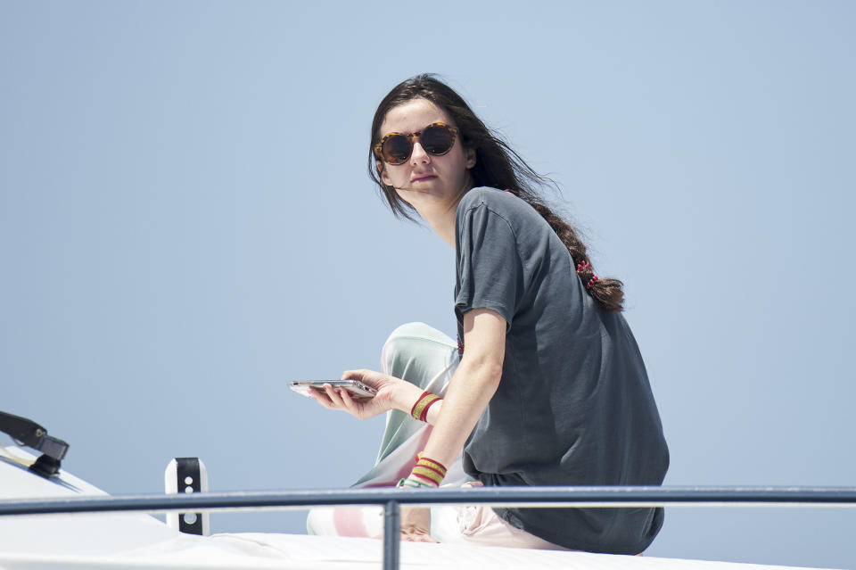 PALMA DE MALLORCA, SPAIN - JULY 30:  Victoria Federica Marichalar Borbon on board of the Somni during the 37th Copa del Rey Mapfre Sailing Cup on July 30, 2018 in Palma de Mallorca, Spain.  (Photo by Carlos Alvarez/Getty Images)