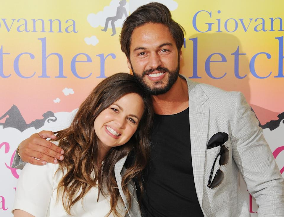 Giovanna Fletcher with brother Mario Falcone. (Getty)