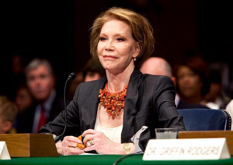 Mary Tyler Moore testified at a Senate hearing for the Juvenile Diabetes Research Foundation in 2009 on the need for federal funding for Type 1 diabetes research. (Photo: Paul Morigi/WireImage)