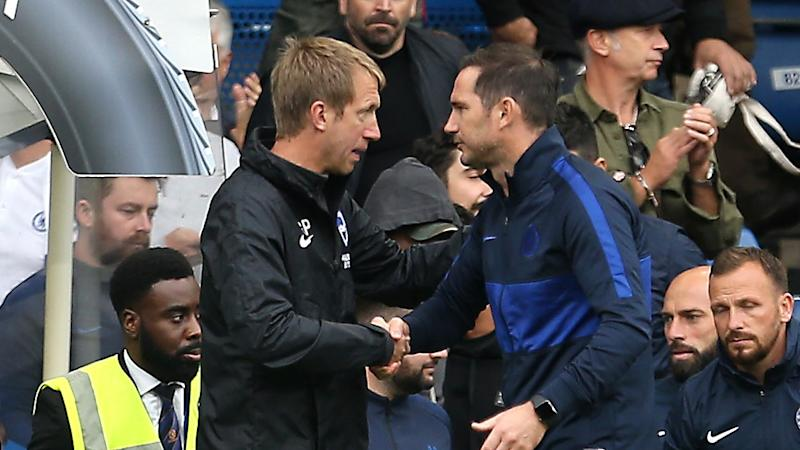 Graham Potter impressed by job Frank Lampard has done at Chelsea