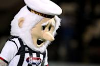 Grimsby Town's Mighty Mariner looks like a budget version of a sad Father Christmas. Enough said.