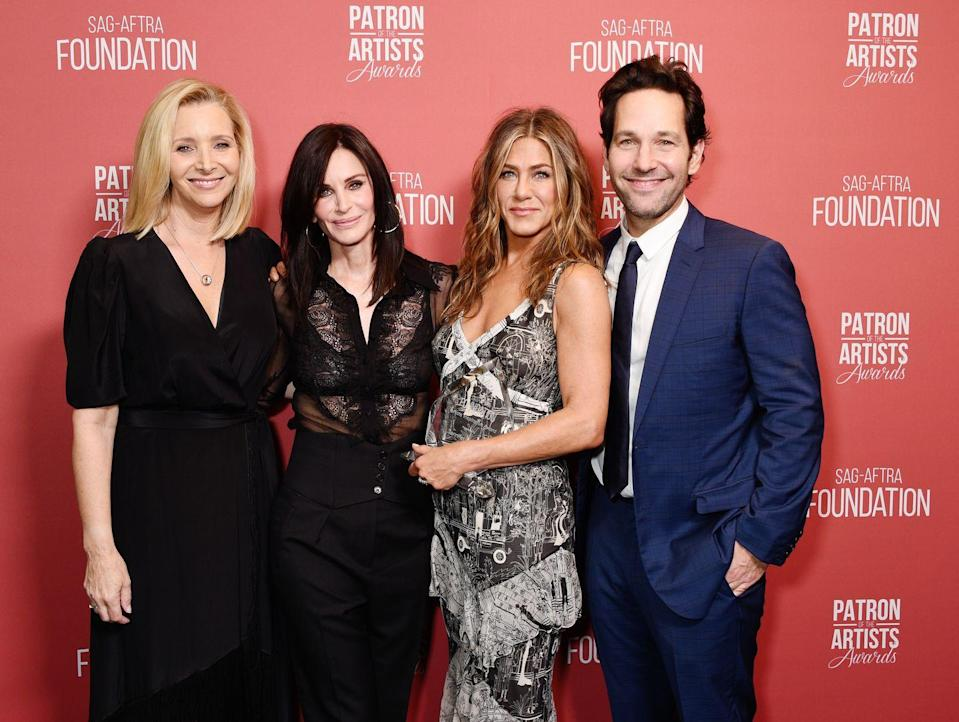 <p>Thought Rudd wasn't one of the six lead characters, we've included him in this roundup as an honorary character, who truly enriched the final season as Phoebe's husband Mike 'crapbag' Hannigan.</p><p>The former co-stars reunited at the SAG-AFTRA Foundation dinner in LA, where Aniston was supported by her friends as she was awarded the 'Artists Inspiration Award'. </p>