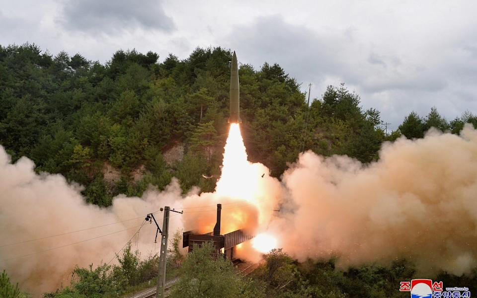 The launch took place at dawn - KCNA