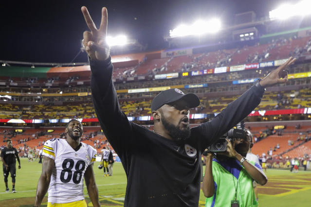 Steelers head coach Mike Tomlin was the subject of a racial slur from a fire official. (AP)
