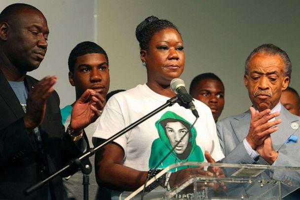 PHOTO: Sybrina Fulton with the Rev. Al Sharpton, right, in New York, July 20, 2013. Fulton, the mother of Trayvon Martin, an unarmed 17-year-old whose shooting death by a neighborhood watch volunteer set off a national conversation on racial profiling. (Chang W. Lee/The New York Times via Redux)
