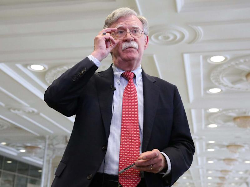 John Bolton frequently disagreed with the president on the stance his country should be taking: EPA