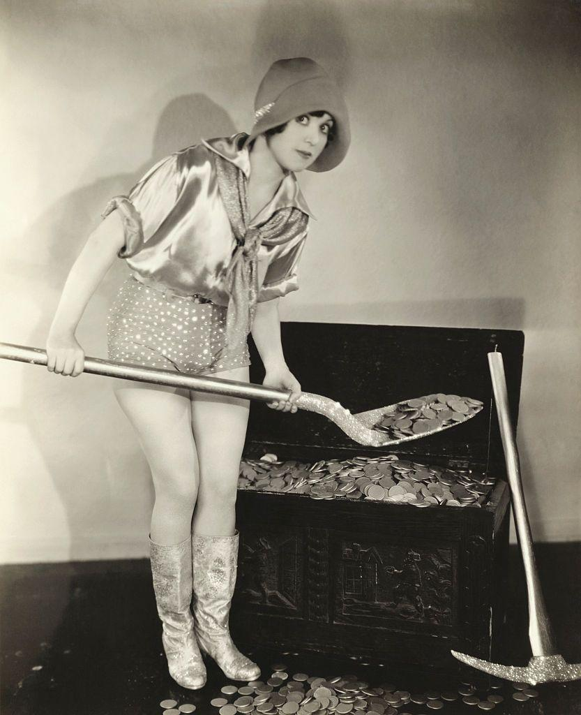 """<p>The money-flush times of the Roaring Twenties gave rise to this term for a woman who is interested in a man, but only for his money. It came from the appropriately-titled """"Mantrap"""" by Sinclair Lewis.</p>"""