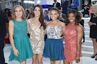 """<a href=""""https://www.teenvogue.com/story/gabby-douglas-miss-mtv-vma-2016-video-music-awards-hospital?mbid=synd_yahoo_rss"""" rel=""""nofollow noopener"""" target=""""_blank"""" data-ylk=""""slk:Gabby Douglas"""" class=""""link rapid-noclick-resp"""">Gabby Douglas</a> sadly couldn't make it back in 2016, but Madison Kocian, Aly Raisman, Laurie Hernandez and Simone Biles represented their team beautifully. They were all smiles with glowing skin and the most fabulous curly and wavy hairstyles. After all, they are known as the Fab Five."""