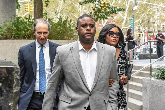 Merl Code (C) is one of three men facing jail time in the college hoops fraud scandal. (Getty)