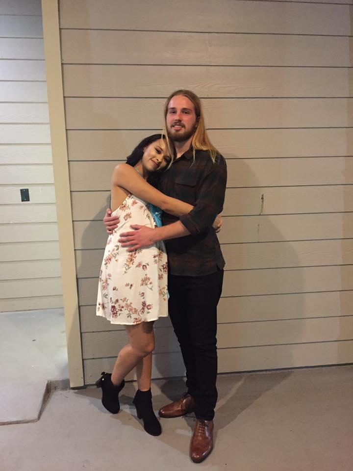 The happy couple at their baby shower (Credit: Taryn Keith)