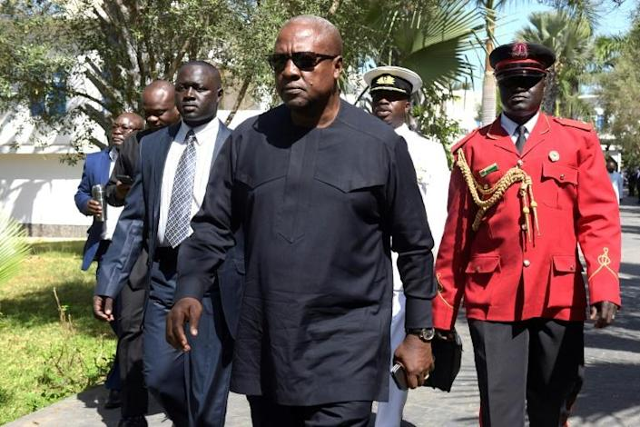 John Mahama, centre, is the only incumbent ever voted out of office in Ghana's political history