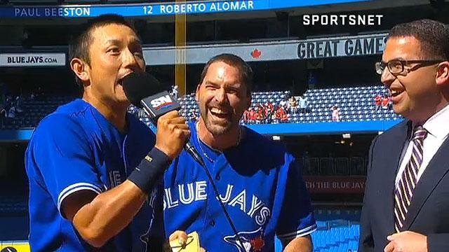 Munenori Kawasaki is the happiest Toronto Blue Jays player ever after walkoff hit