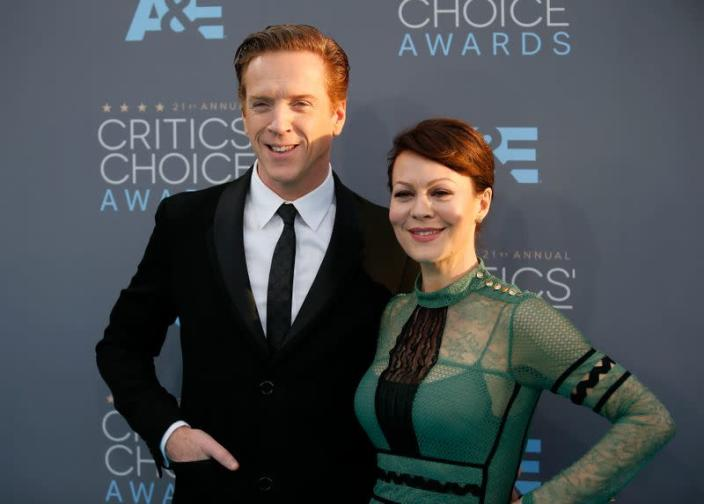 Damian Lewis and Helen McCrory arrive at the 21st Annual Critics' Choice Awards in Santa Monica