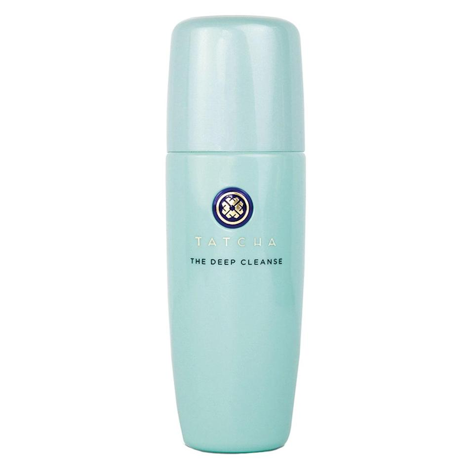 """<p>For starters, the pretty teal bottle will instantly dress up your bathroom counter. Tatcha's The Deep Cleanse also has an <a href=""""https://www.allure.com/review/tatcha-the-deep-cleanse-gel-cleanser?mbid=synd_yahoo_rss"""" rel=""""nofollow noopener"""" target=""""_blank"""" data-ylk=""""slk:Allure Best of Beauty award"""" class=""""link rapid-noclick-resp""""><em>Allure</em> Best of Beauty award</a>, which is concrete proof it's in the """"best ever"""" league. But one wash with the luxurious formula inside the pretty packaging and you'll understand what makes it worthy of a spot in your starting lineup. The gel-based cleanser is laced with tiny Japanese luffa fruit fibers, which add an element of gentle — and wildly satisfying — exfoliation and dissolve as you cleanse, turning the whole face-washing experience a bit more spa-like.</p> <p><strong>$38</strong> (<a href=""""https://click.linksynergy.com/deeplink?id=MZ9491VLjxM&mid=38643&u1=allurebestfacialcleansersofalltime&murl=https%3A%2F%2Fwww.tatcha.com%2Fproduct%2FDP-CLEANSE.html"""" rel=""""nofollow noopener"""" target=""""_blank"""" data-ylk=""""slk:Shop Now"""" class=""""link rapid-noclick-resp"""">Shop Now</a>)</p>"""