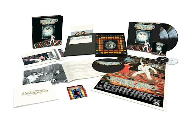 "<p>The soundtrack that brought disco to the masses gets the 40th anniversary treatment with a two-CD, two-LP plus Blu-ray boxed set that includes the remastered original album with remixes, as well as the 4K-restored version of the film's 40th Anniversary Director's Cut. Those who sided with ""rock"" in the era of rock versus disco are advised to put down their guard and take a listen with fresh ears to realize the brilliance of the songs included here. (Photo: RSO Records) </p>"