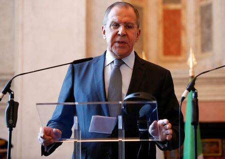 Russia Foreign Minister Lavrov attends meeting with counterpart Alfano in Rome
