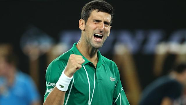 With 12 singles wins already in 2020, Novak Djokovic is pleased by his form at the Australian Open after reaching another title match.