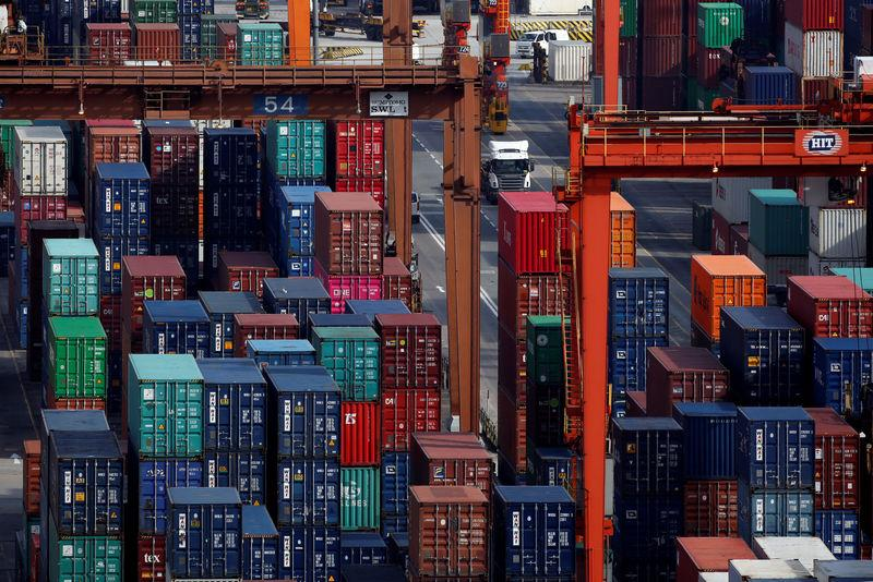 A general view of Kwai Tsing Container Terminals in Hong Kong
