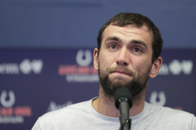 "The iconic Twitter account Capt. Andrew Luck followed Andrew Luck's lead on Sunday morning after his surprise retirement, tweeting that it's headed back to the farm and ""shall battle no more."" (AP/Michael Conroy)"