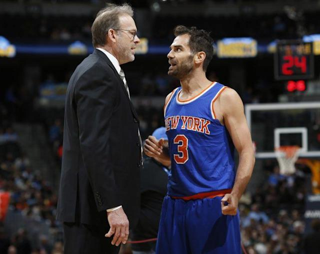 Kurt Rambis and Jose Calderon were briefly in control of the Knicks' offense. (AP)