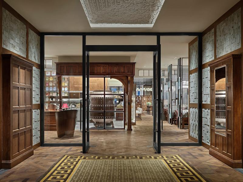 The interiors of the hotel were created by the Toronto-based firm Yabu Pushelberg.