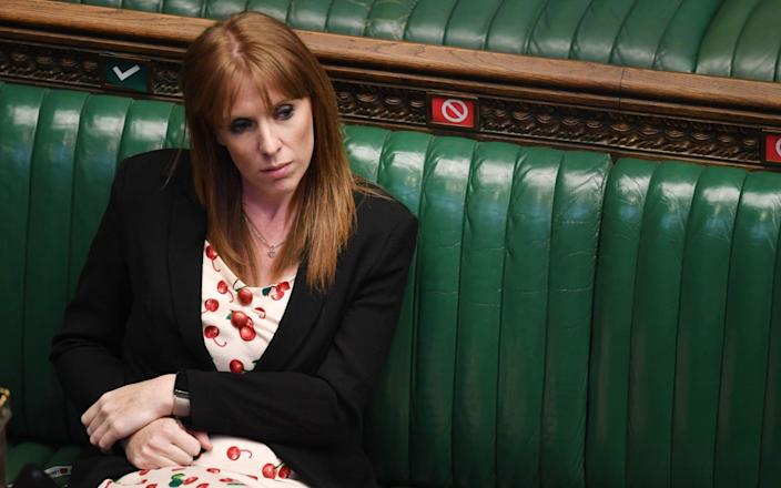 Angela Rayner, Labour's deputy leader, who purchased a pair of £249 wireless earphone AirPods - AFP