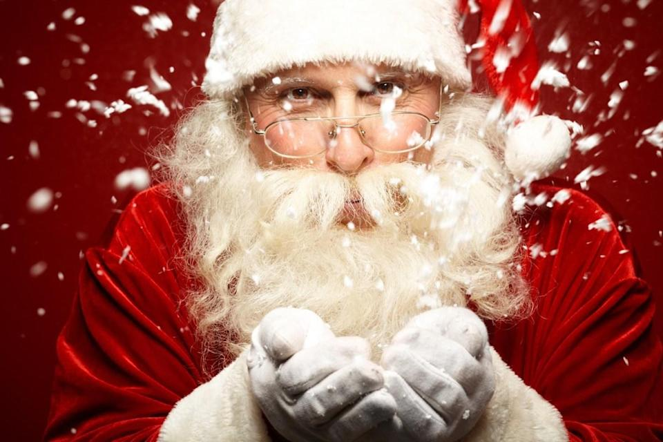 """He's not just flying around without any authority! In 1927, <a href=""""https://bestlifeonline.com/different-names-for-santa-claus/?utm_source=yahoo-news&utm_medium=feed&utm_campaign=yahoo-feed"""" rel=""""nofollow noopener"""" target=""""_blank"""" data-ylk=""""slk:Saint Nick"""" class=""""link rapid-noclick-resp"""">Saint Nick</a> got a pilot's license from the assistant secretary of commerce for aeronautics, <strong>William P. MacCracken</strong>. According to the Library of Congress, <a href=""""http://www.loc.gov/pictures/item/2016888549/"""" rel=""""nofollow noopener"""" target=""""_blank"""" data-ylk=""""slk:Santa had his picture taken"""" class=""""link rapid-noclick-resp"""">Santa had his picture taken</a> as he was given his license, airway maps, """"and the assurance that the lights would be burning on the airways on Christmas Eve."""" And for more trivia to cheer you up, here are <a href=""""https://bestlifeonline.com/feel-good-facts/?utm_source=yahoo-news&utm_medium=feed&utm_campaign=yahoo-feed"""" rel=""""nofollow noopener"""" target=""""_blank"""" data-ylk=""""slk:50 Feel-Good Facts Guaranteed to Make You Smile"""" class=""""link rapid-noclick-resp"""">50 Feel-Good Facts Guaranteed to Make You Smile</a>."""