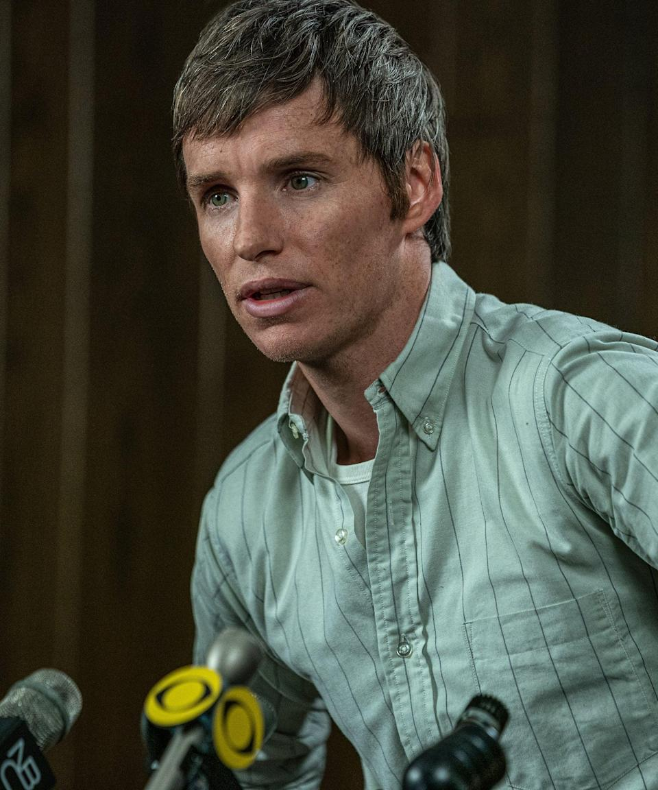 """<h2>As portrayed by Eddie Redmayne</h2><br>Golden Globe-winning actor Eddie Redmayne has been active in Hollywood since 2006. Some of his work over the past 14 years includes notable roles in <em>Les Misérables</em>, <em><a href=""""https://www.refinery29.com/en-us/2014/10/75444/eddie-redmayne-the-theory-of-everything-trailer"""" rel=""""nofollow noopener"""" target=""""_blank"""" data-ylk=""""slk:The Theory of Everything"""" class=""""link rapid-noclick-resp"""">The Theory of Everything</a></em>, <em>The Danish Girl</em>, and <em><a href=""""https://www.refinery29.com/en-us/2016/10/128222/eddie-redmayne-wand-waving-fantastic-beasts"""" rel=""""nofollow noopener"""" target=""""_blank"""" data-ylk=""""slk:Fantastic Beasts and Where to Find Them"""" class=""""link rapid-noclick-resp"""">Fantastic Beasts and Where to Find Them</a></em>.<span class=""""copyright"""">Photo: Courtesy of Netflix.</span>"""