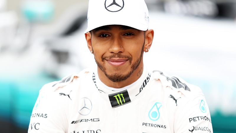 Lewis Hamilton, pictured here racing for Mercedes in Formula One.