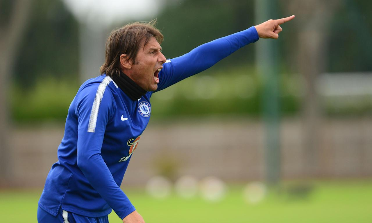Antonio Conte during a pre-season friendly between Chelsea and Fulham at the club's Cobham training ground.
