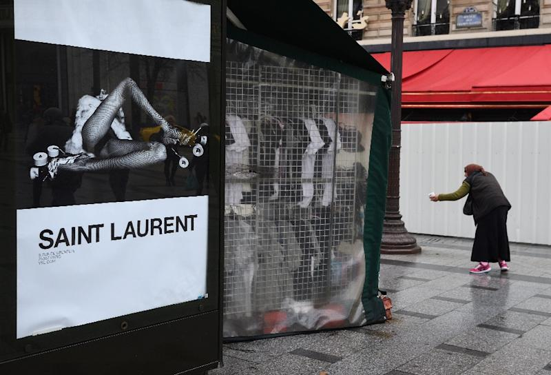 "French fashion house Yves Saint Laurent has come under for its new advertising campaign featuring painfully thin models in ""degrading"" poses"