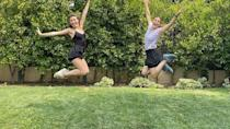 """<p><a href=""""https://www.womenshealthmag.com/uk/fitness/workouts/g35987407/dance-workouts/"""" rel=""""nofollow noopener"""" target=""""_blank"""" data-ylk=""""slk:Dance workouts"""" class=""""link rapid-noclick-resp"""">Dance workouts</a> are some of the most fun and energetic ways to get your daily movement in. Jennifer, who was a dancer for years, shows us that a dance partner (this time a professional ballerina) can make it even more enjoyable. </p><p><a href=""""https://www.instagram.com/p/CEKTlfNDiF_/"""" rel=""""nofollow noopener"""" target=""""_blank"""" data-ylk=""""slk:See the original post on Instagram"""" class=""""link rapid-noclick-resp"""">See the original post on Instagram</a></p>"""