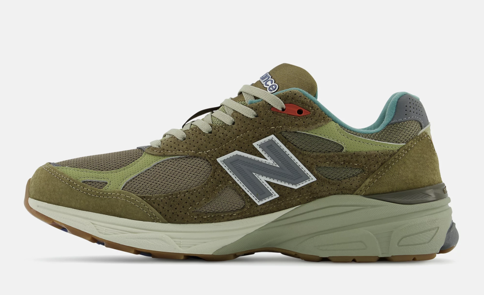 """The medial side of the Bodega x New Balance 990v3 """"Anniversary"""" collab. - Credit: Courtesy of New Balance"""