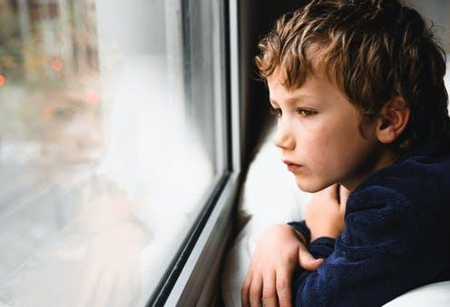 """<span class=""""caption"""">Children are at high risk of domestic violence and abuse, but are often left out of research and strategies to address it.</span> <span class=""""attribution""""><a class=""""link rapid-noclick-resp"""" href=""""https://www.shutterstock.com/image-photo/boy-stays-home-bored-by-school-1683863773"""" rel=""""nofollow noopener"""" target=""""_blank"""" data-ylk=""""slk:Joaquin Corbalan P/Shutterstock"""">Joaquin Corbalan P/Shutterstock</a></span>"""