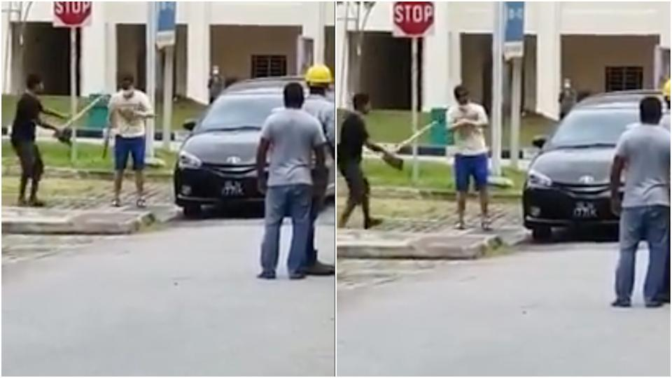 A video of the incident on 29 September last year. (PHOTO: Facebook/Roads.sg)