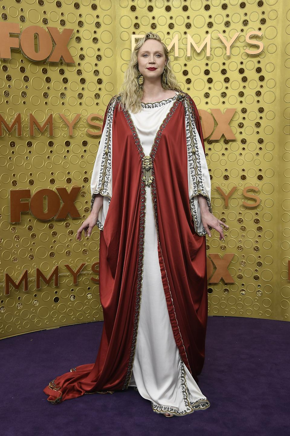 """<h1 class=""""title"""">Gwendoline Christie in Gucci</h1><cite class=""""credit"""">Photo: Getty Images</cite>"""