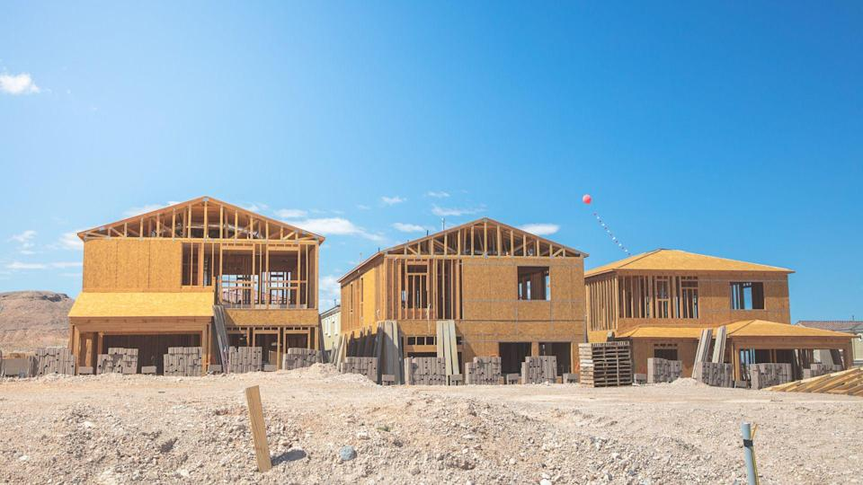 Construction of houses in Las Vegas USA.