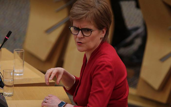 Nicola Sturgeon has only unveiled a lockdown plan until April 26 - Getty Images Europe
